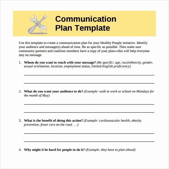Communications Plan Template Word Unique 8 Sample Munication Plans