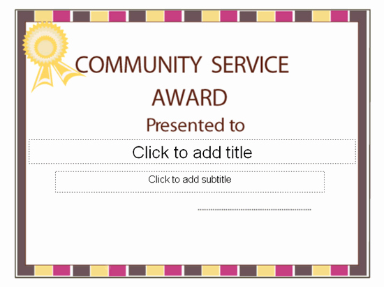 Community Service Certificate Template Awesome Templates Certificates Munity Service Award Certificate