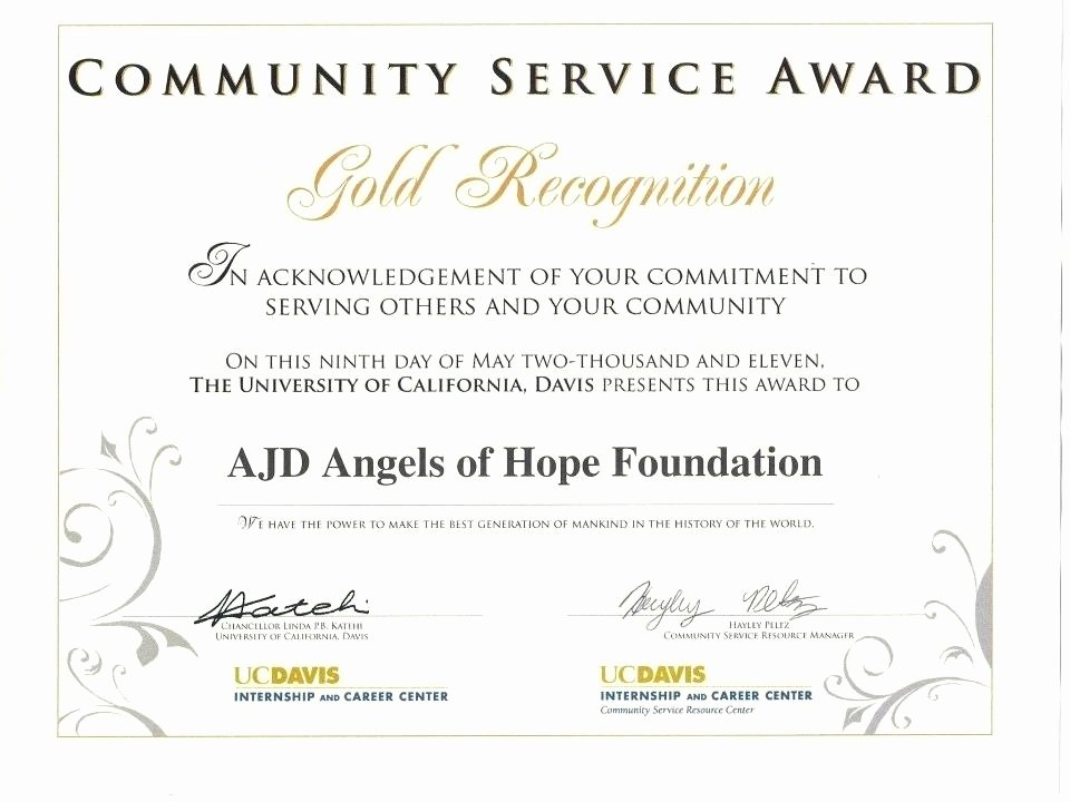 Community Service Certificate Template Best Of Certificate for Years Service Template 5 Performance