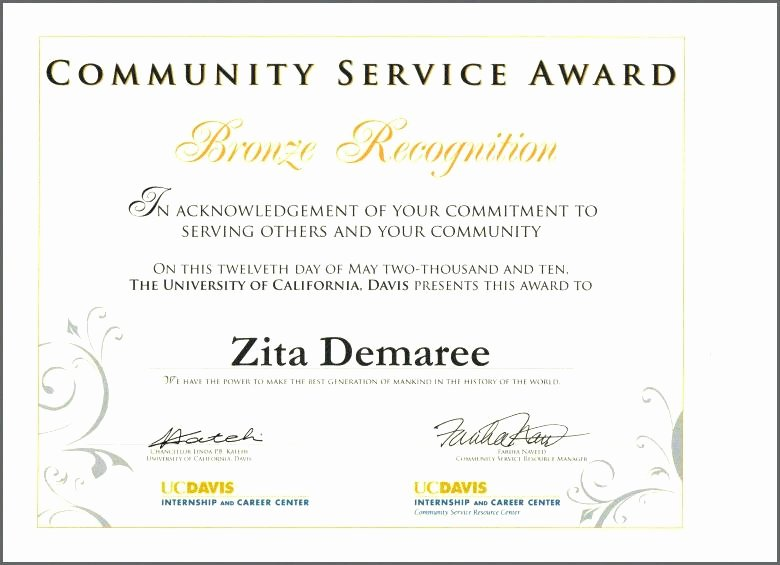Community Service Certificate Template Lovely Free Printable Certificate Pletion Template Image