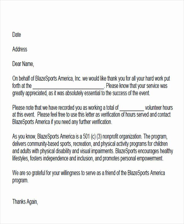 Community Service Letter Template Awesome 38 Service Letter formats