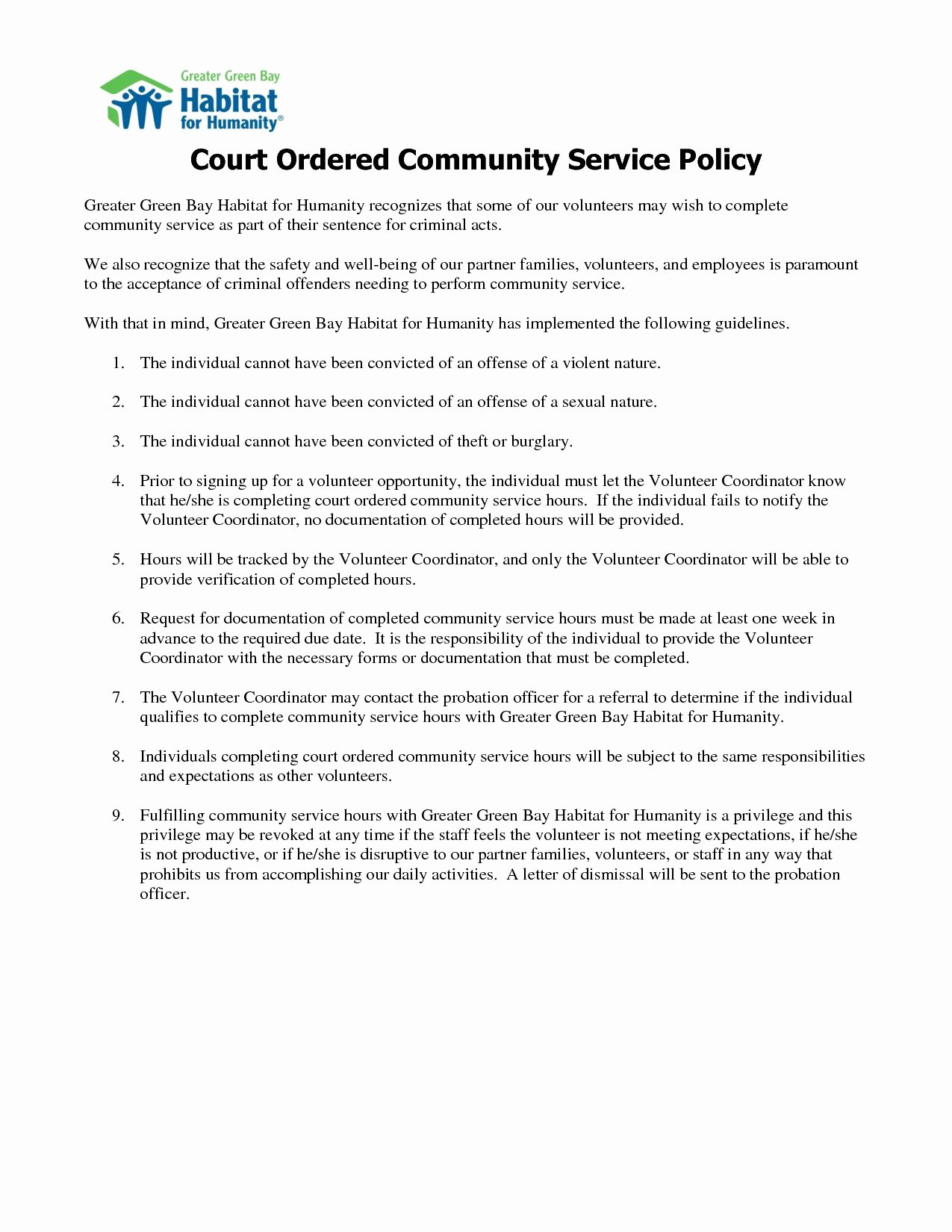 Community Service Letter Template Awesome Court ordered Munity Service Letter Template Download