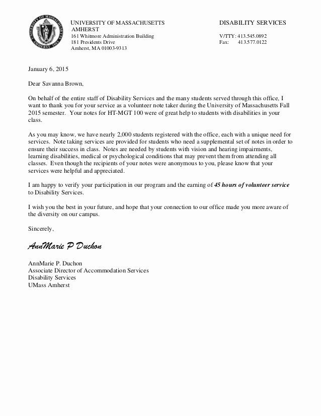 Community Service Letter Template Awesome Munity Service Letter