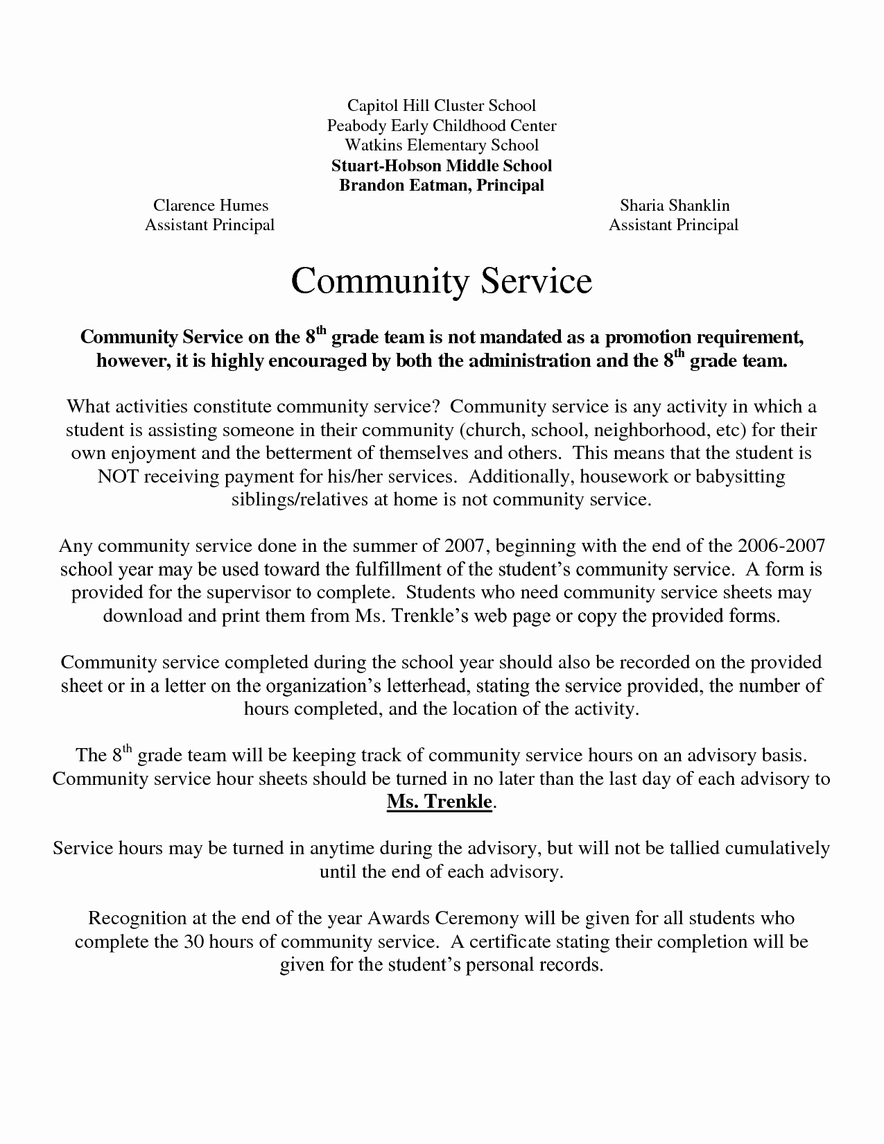 Community Service Letter Template Best Of Best S Of Example Munity Service Letters