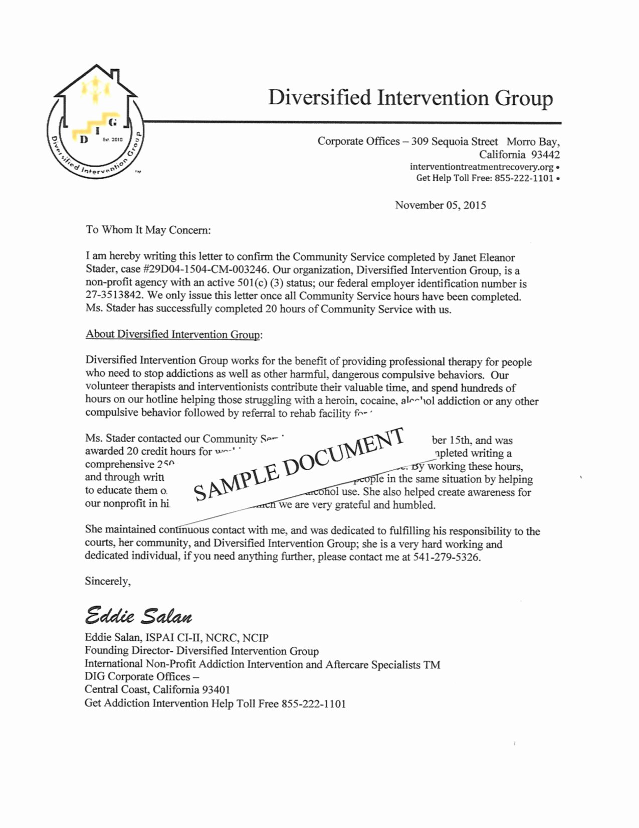 Community Service Letter Template Fresh Template for Munity Service Hours Letter Samples
