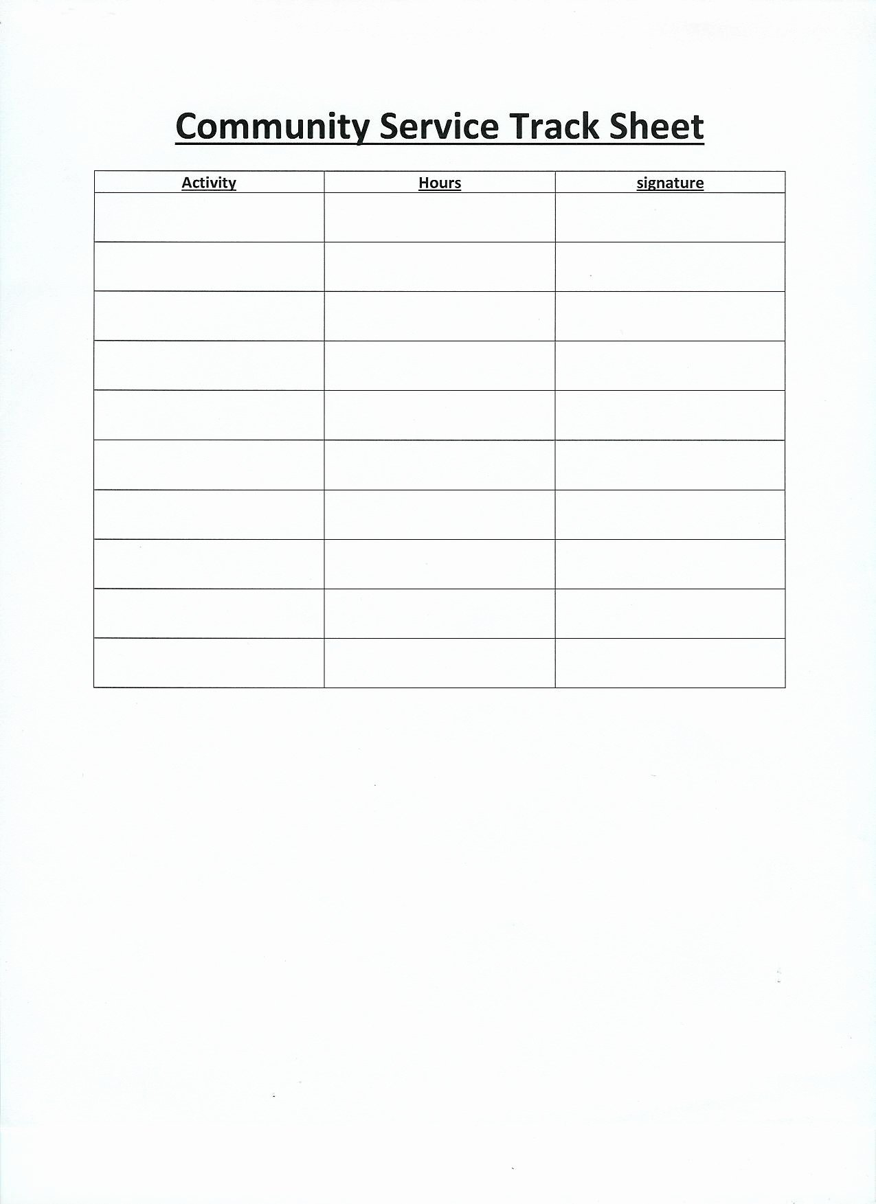 Community Service Timesheet Template Beautiful Free Printable Volunteer Log Sheets