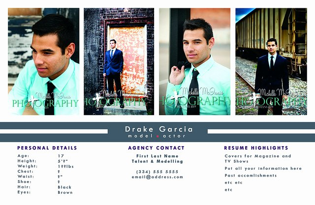 Comp Card Template Free Awesome P Card Template