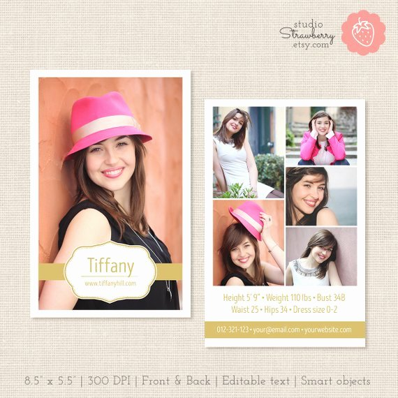 Comp Card Template Free Beautiful Modeling P Card Template Shop Template Posite