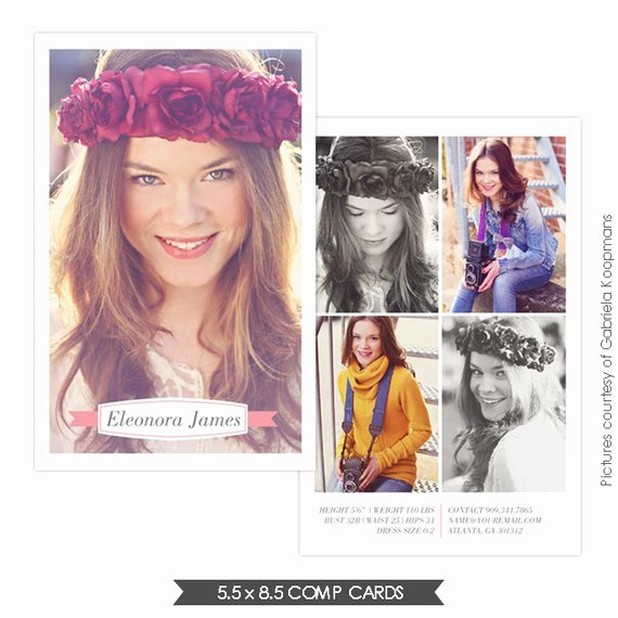 Comp Card Template Free Best Of Instant Download Modeling P Card Shop Templates