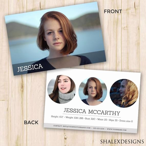 Comp Card Template Free Best Of Modeling P Card Modeling P Card Template Shop