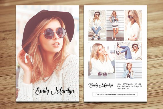 Comp Card Template Free Elegant Modeling P Card Template Fashion Model P Card