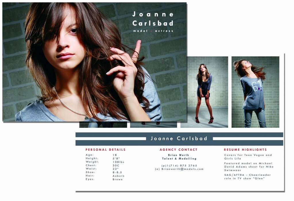 Comp Card Template Free Elegant P Card Template