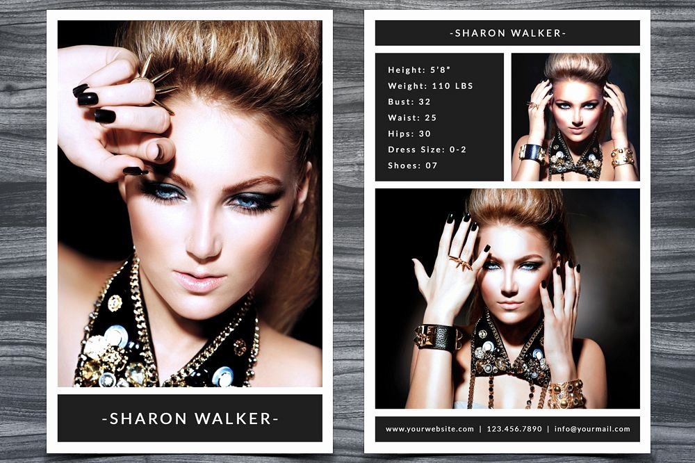 Comp Card Template Free Inspirational Model P Card Template
