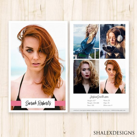 Comp Card Template Photoshop Awesome Modeling P Card Template Model P Card Fashion