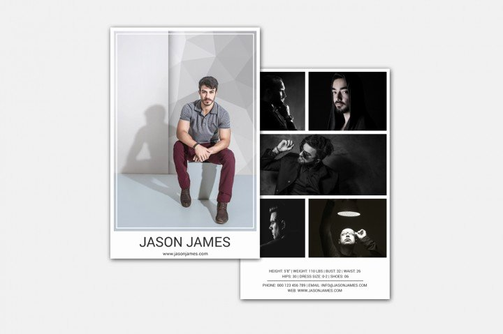 Comp Card Template Photoshop Best Of Model P Card Template by Designscozy