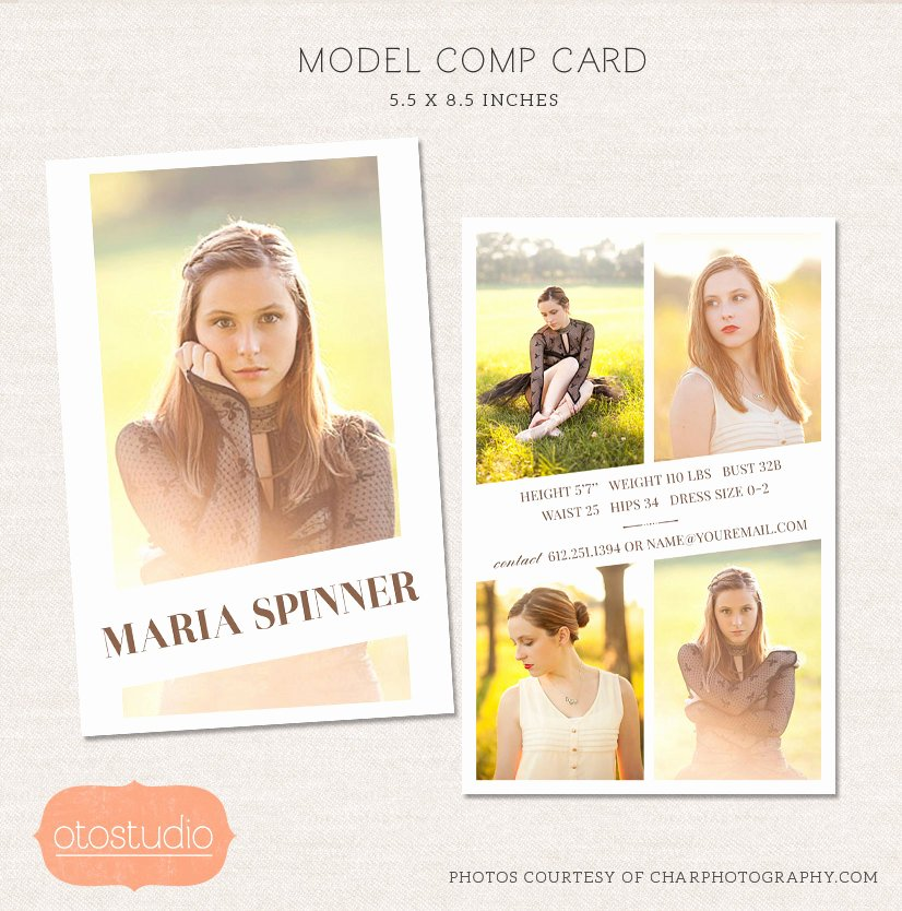 Comp Card Template Photoshop Best Of Sale Model P Card Shop Template Editorial Chic