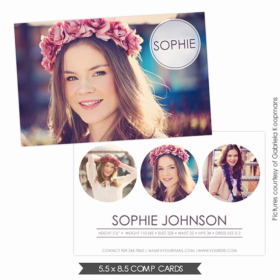 Comp Card Template Photoshop Elegant 16 for Models P Cards Psd Model P Card