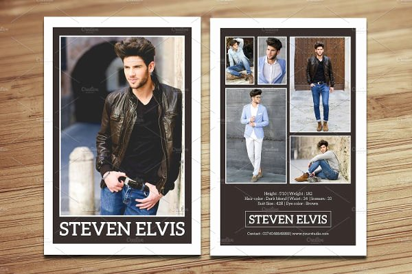Comp Card Template Photoshop Inspirational 8 P Card Templates Free Sample Example format