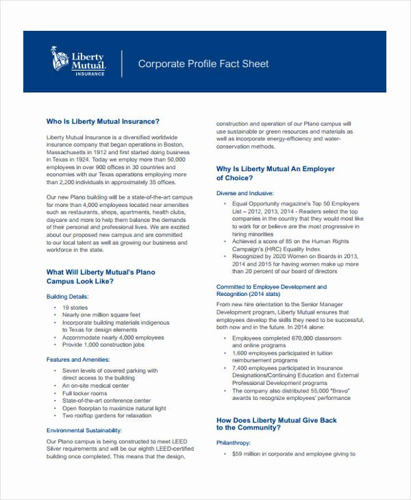 Company Fact Sheet Template Awesome 32 Fact Sheet Templates In Pdf
