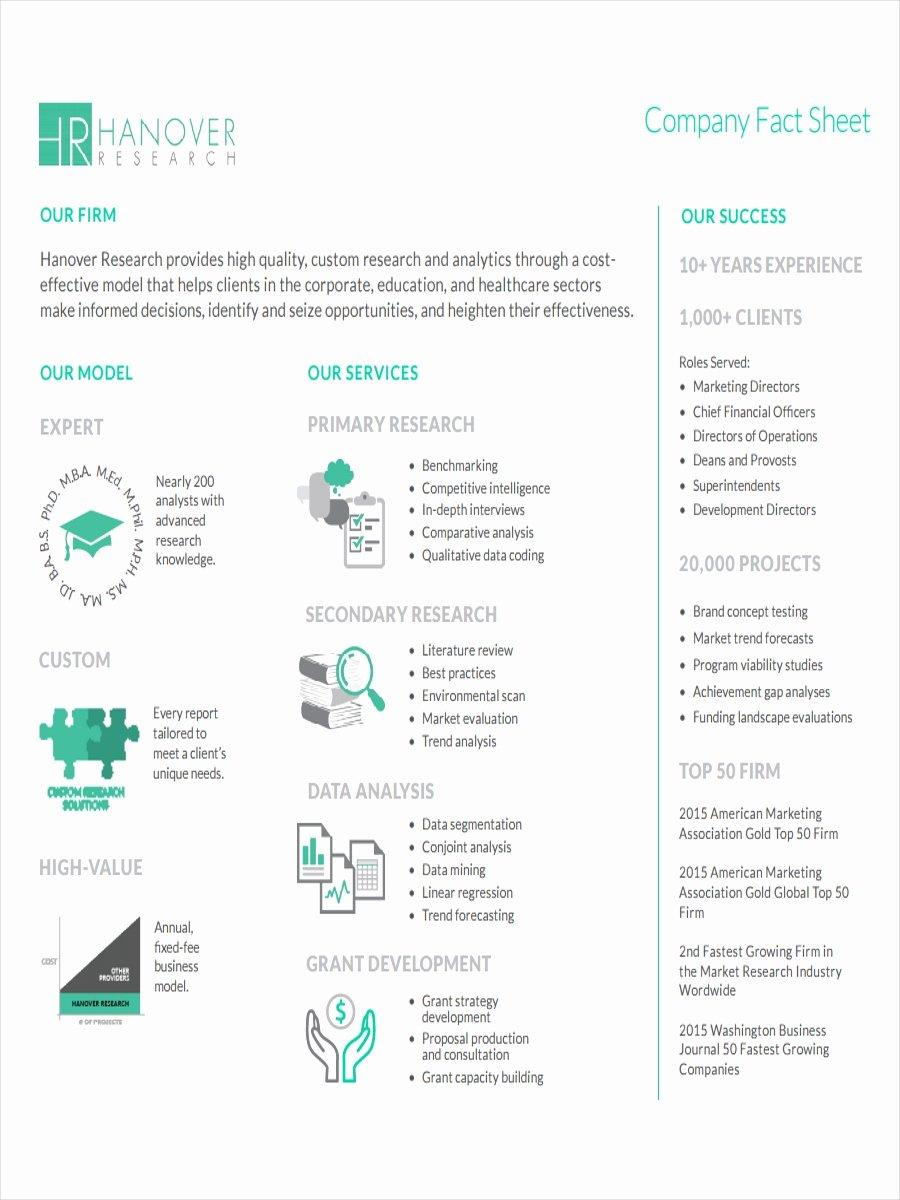 Company Fact Sheet Template Beautiful 19 Examples Of Fact Sheets
