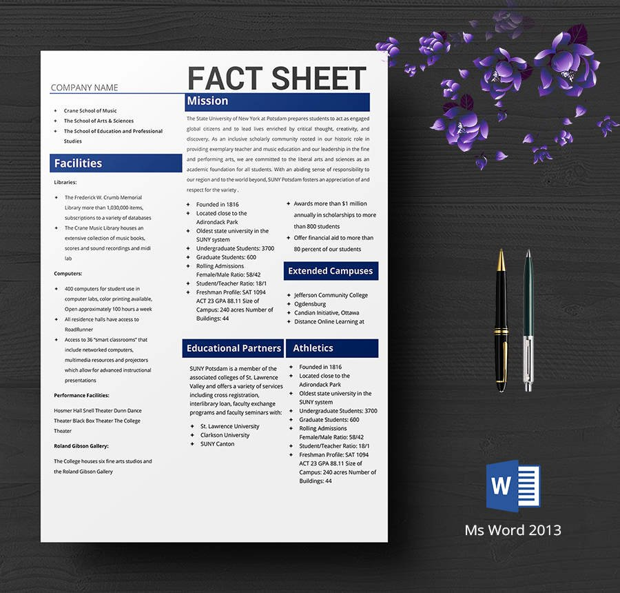 Company Fact Sheet Template Beautiful 8 Free Fact Sheet Templates Survey Campaign