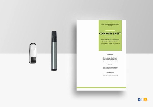 Company Fact Sheet Template New 19 Examples Of Fact Sheets
