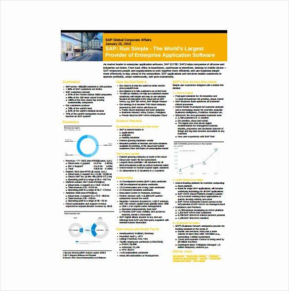 Company Fact Sheet Template Unique 24 Fact Sheet Templates Pdf Doc