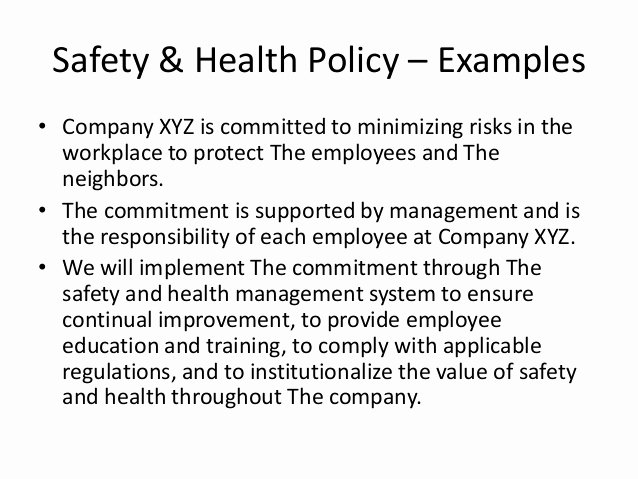 Company Safety Policy Template Fresh Health & Safety Management System In Indian Construction