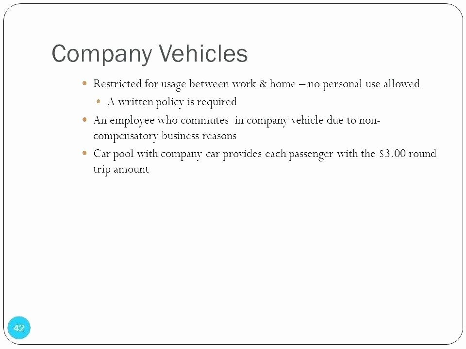 Company Vehicle Policy Template Awesome Car Usage Policy Templates Guidelines for Using Pany