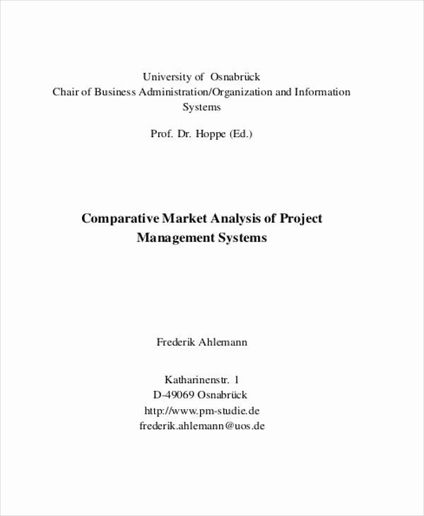 Comparative Market Analysis Template Beautiful 33 Market Analysis Templates