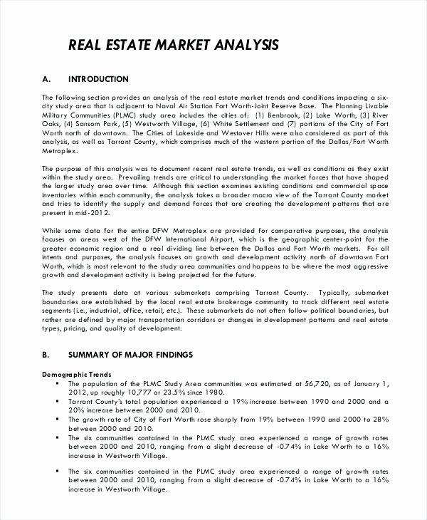 Comparative Market Analysis Template Best Of Real Estate Introduction Letter to Friends Template Real