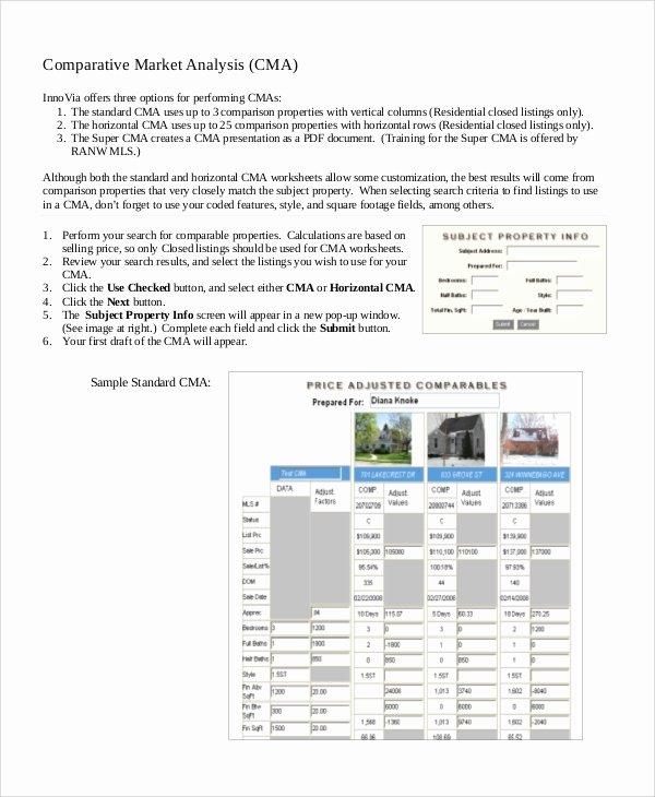 Comparative Market Analysis Template Elegant 16 Market Analysis Samples Pdf Word
