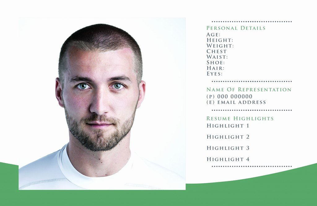 Composite Card Template Free Elegant Free P Card Templates for Actor & Model Headshots