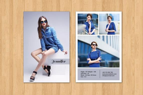 Composite Card Template Free Luxury Modeling P Card Template Fashion Model P Card
