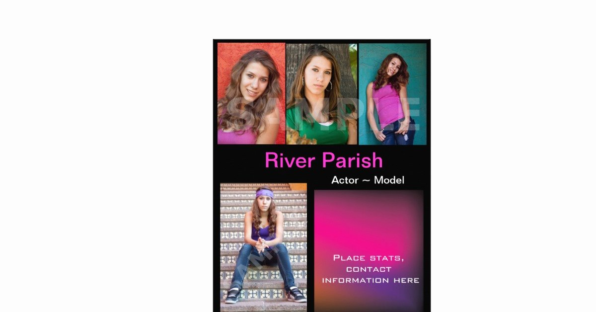 Composite Card Template Free Unique Model Headshot P Cards Template Full Color Flyer