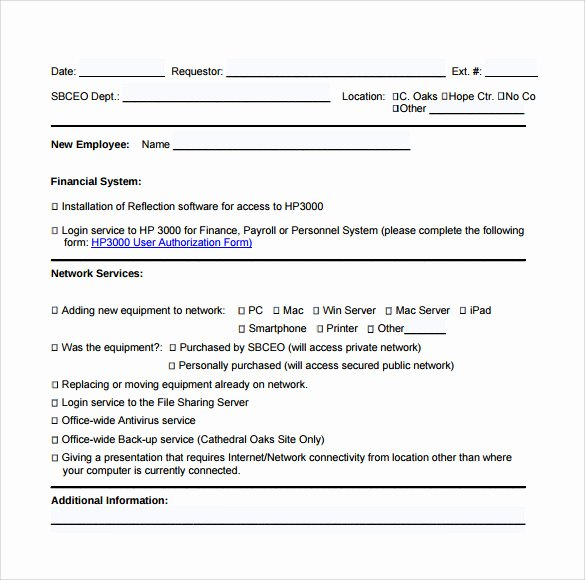 Computer Repair forms Template Elegant 13 Puter Service Request form Templates to Download