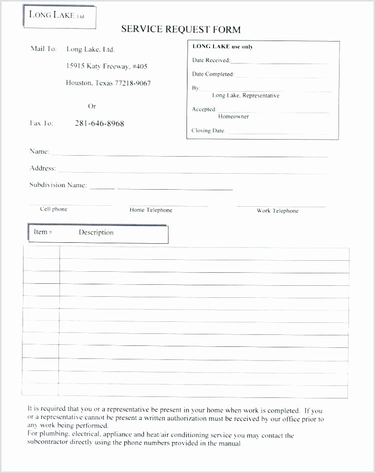 Computer Repair forms Template Unique Puter Service Request form Template Call Report format