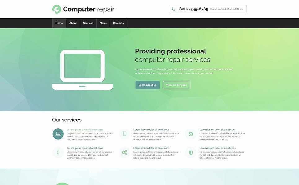 Computer Repair Web Template Best Of Puter Repair Responsive Website Template