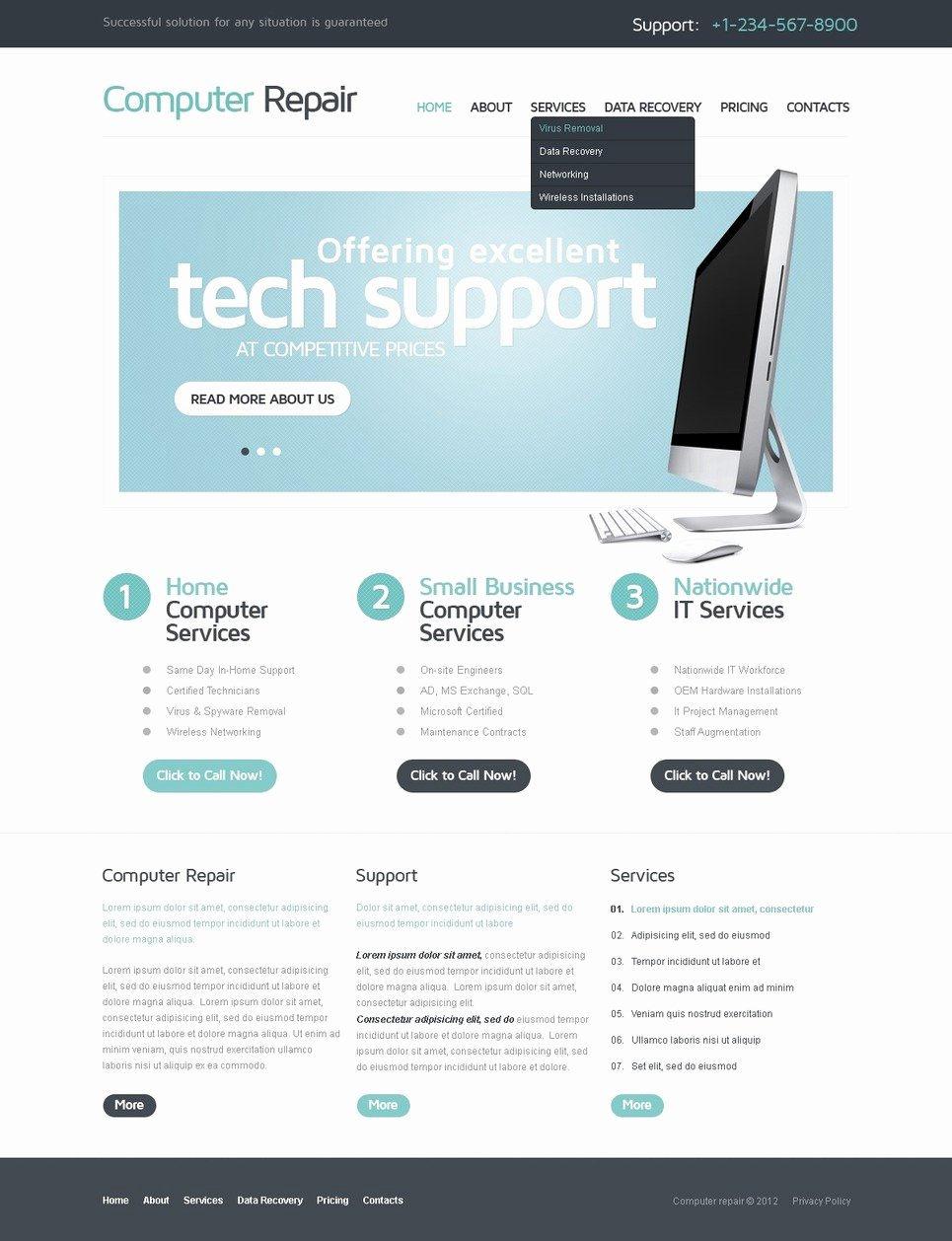 Computer Repair Web Template Best Of Puter Repair Website Template
