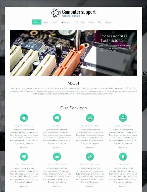 Computer Repair Web Template Elegant Apple Style Website Template Free Download Green