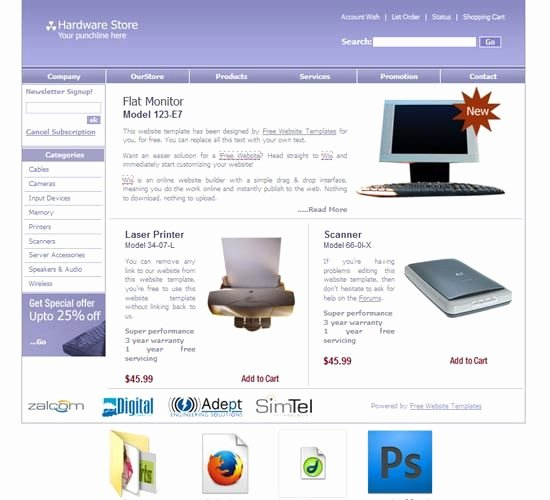 Computer Repair Web Template Elegant Puter Repair Template Free Templates Download