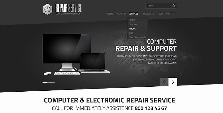 Computer Repair Web Template Fresh Puter Electronic Service HTML Template