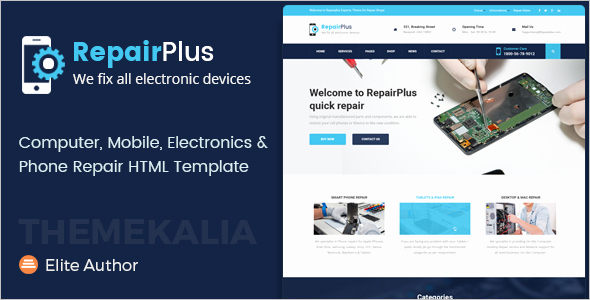 Computer Repair Web Template Inspirational 25 Mobile E Merce HTML Templates Free & Premium themes