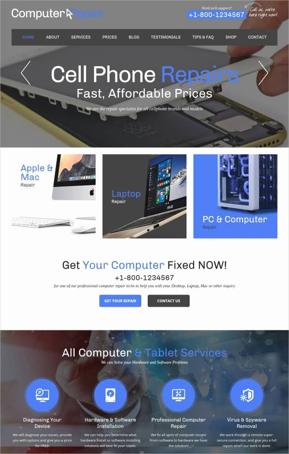 Computer Repair Web Template Lovely 28 Puter Repair Website themes & Templates