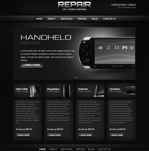 Computer Repair Web Template New Gaming Website Templates Pro Tips for Building A Gaming