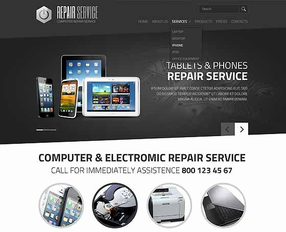 Computer Repair Web Template New Puter Repair Website Templates Pc Repair themes