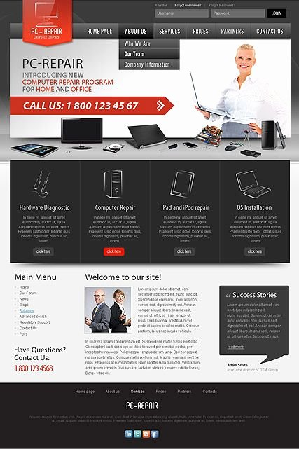 Computer Repair Website Template Awesome Free Puter Repair Template 9 Adorable Puter Repair