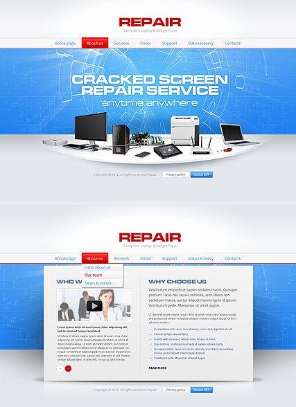 Computer Repair Website Template Beautiful Repair Puter HTML5 Template Id From