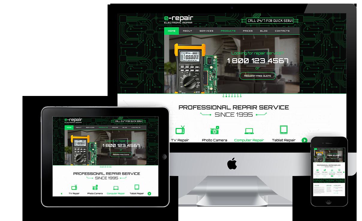 Computer Repair Website Template Best Of Electronic Repair Wordpress Template Id From