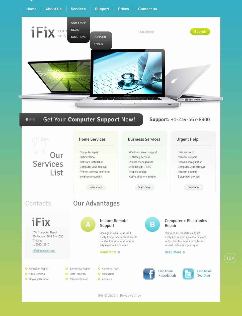 Computer Repair Website Template Best Of Puter Repair Website Template